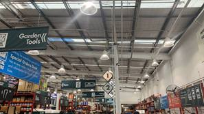 LED lights in a bunnings warehouse